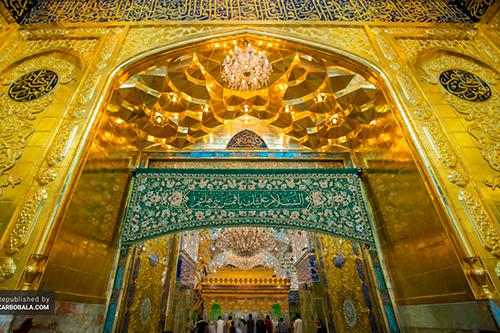 هنر دست بانوان اصفهانی در ایوان طلای حرم حضرت عباس (ع)/ عکس