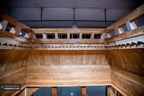 پایان ساخت سازه چوبی ضریح زینب کبری (س) / گزارش تصویری