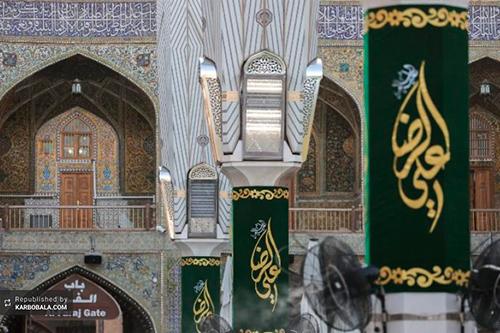 قرائت زیارت خاصه توسط خادمان آستان علوی/ گزارش تصویری
