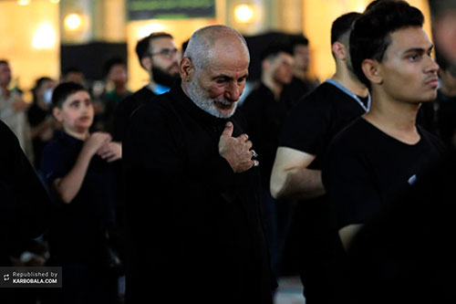 مسجد کوفه میزبان عزاداران سفیر الحسین (ع) / عکس