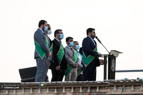 تعویض پرچم گنبد علوی در آستانه عید ولایت / گزارش تصویری