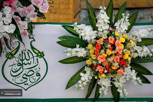 حال و هوای بارگاه حضرت علی (ع) در روز عید غدیر/ گزارش تصویری
