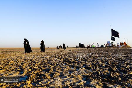 اولین زائران اربعین در راه کربلا / گزارش تصویری