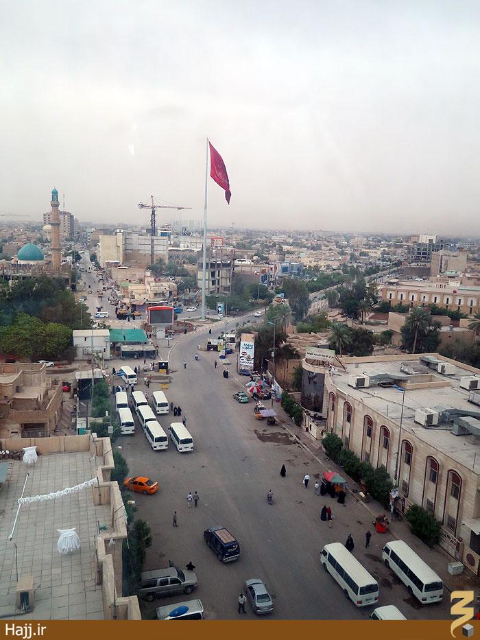 تصاویر بلندترین پرچم یا حسین(ع) در کربلا