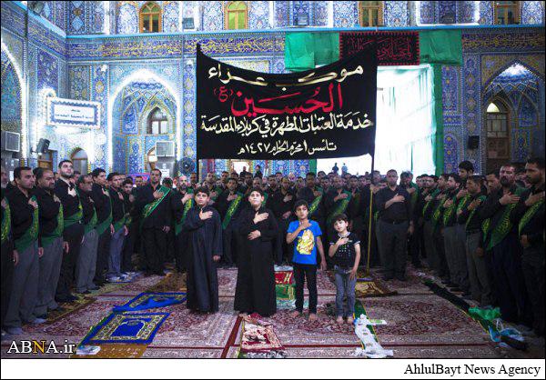 عزاداری وفات حضرت زینب(س) در کربلا/ تصاویر