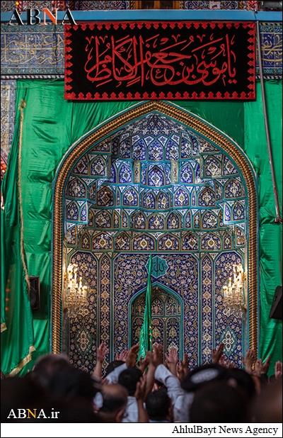 تشییع نمادین امام موسی کاظم در کربلا /تصاویر