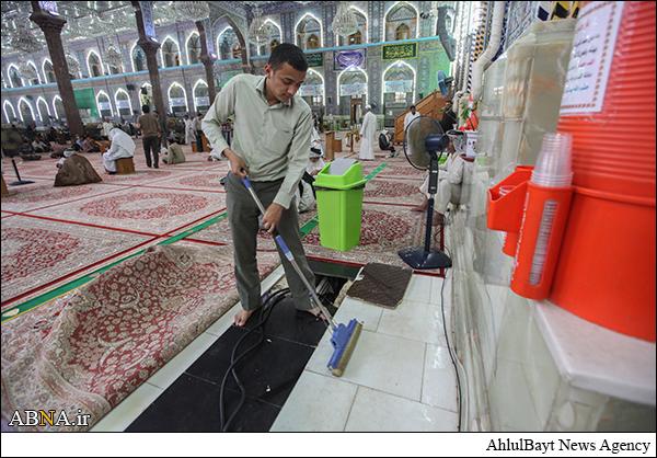 مراسم           غبارروبی حرم امام حسین علیهالسلام         / عکس