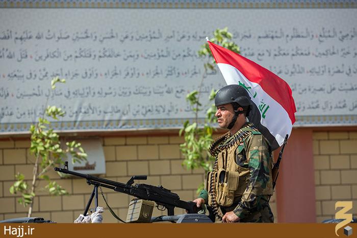مدافعان حریم حرم عتبات در کربلا/ تصاویر
