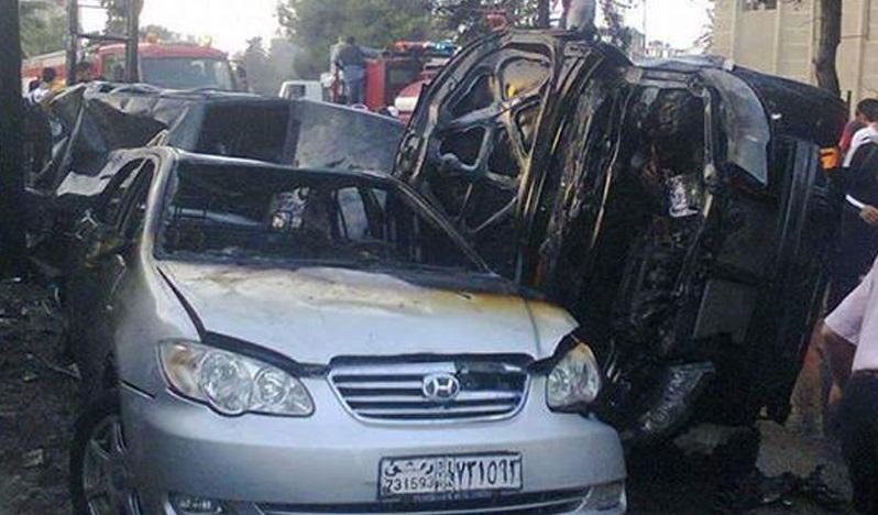 انفجار دو خودروی بمب گذاری شده در جنوب سوریه