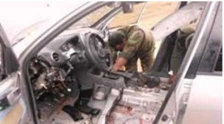 کشف خودروی بمب گذاری شده در استان کربلا
