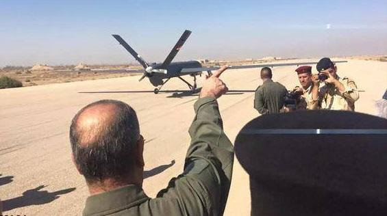 پرواز پهپاد چینی در آسمان عراق