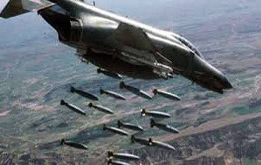 بمب های سنگر شکن روس ها بر مواضع داعش