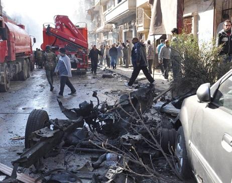 انفجار مرگبار محله الزهراء حمص