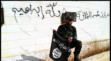 پایین آوردن پرچم داعش در استان صلاح الدین عراق