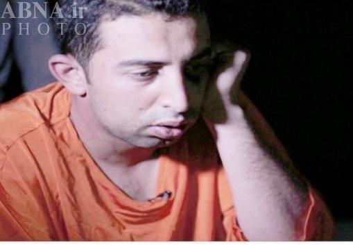 خلبان اردنی اسیر داعش در لباس اعدام