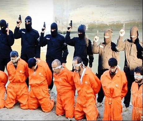 عناصر داعش 8 نظامی و شهروند عراقی را اعدام کردند