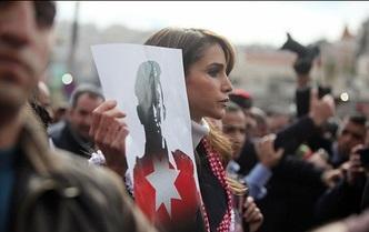 حضور ملکۀ اردن در تظاهرات ضد داعش