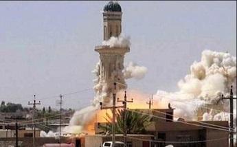 انهدام مسجد تاریخی عراق توسط داعش
