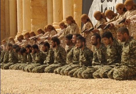 کودکان داعش 25 نظامی سوری را در تدمر اعدام کردند