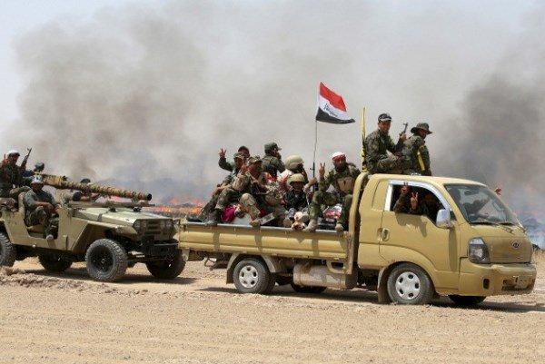 حمله به مواضع داعش در شمال فلوجه