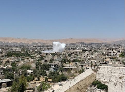 حمله خمپارهای تروریستهای تکفیری به دمشق