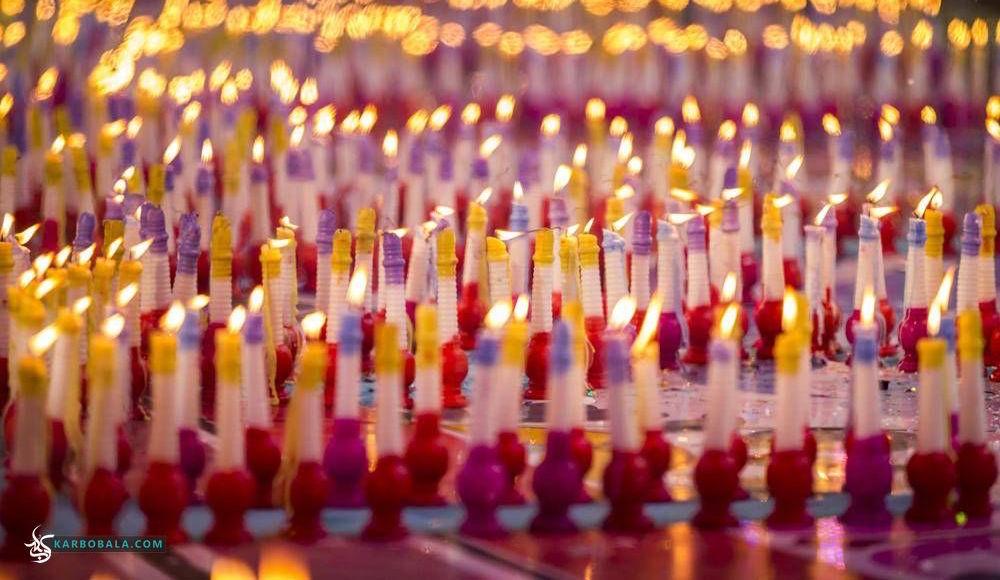 همزمان با نیمه شعبان، 1183 شمع به نشانه سن مبارک امام زمان (ع) در جشنواره شمع کربلا روشن شد