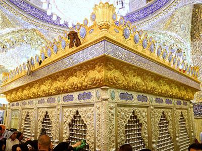 افتتاح ضریح هانیبنعروه در مسجد کوفه