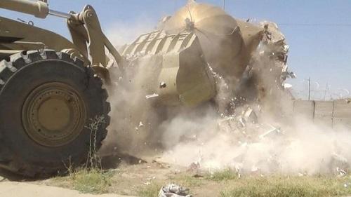 داعش مسجد تاریخی تکریت را تخریب کرد