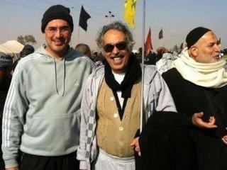 حضور آنطوان بارا نویسنده وادیب مسیحی درمیان زائران حسینی