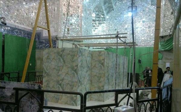 گزارش تصویری از بازسازی مضجع مبارک سیدالشهدا (علیه السلام)