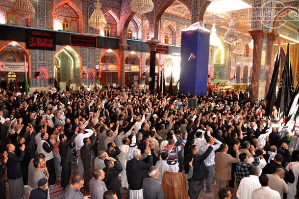 گزارش تصویری: مراسم عزاداری شهادت حضرت فاطمه زهرا (سلام الله علیها) در حرم مطهر امام حسین علیه السلام