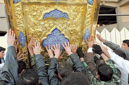 پیشرفت ساخت دربهای حرم حضرت عباس