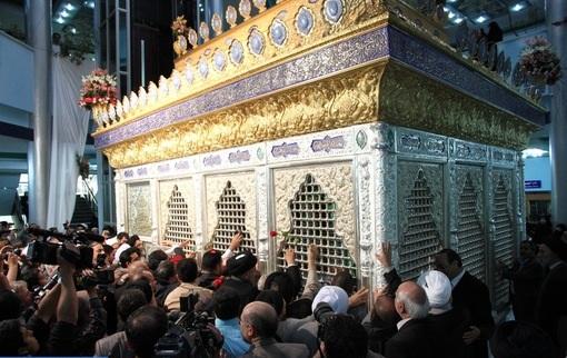 انتقال ضریح جدید حضرت مسلم بن عقیل(علیه السلام) به عراق