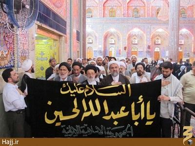 مراسم سوگواری شهادت امام جعفر صادق «علیه اسلام» در حرم حسینی (گالری عکس)