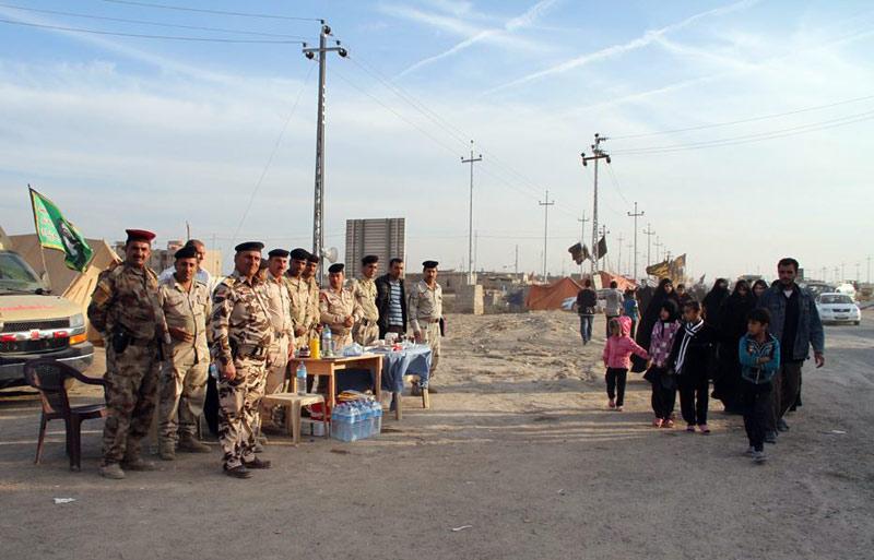 فداکاری یک پلیس برای حفظ جان زائرین حسینی