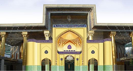 تقویت و تذهیب ایوان طلای حرم حضرت عباس علیهالسلام