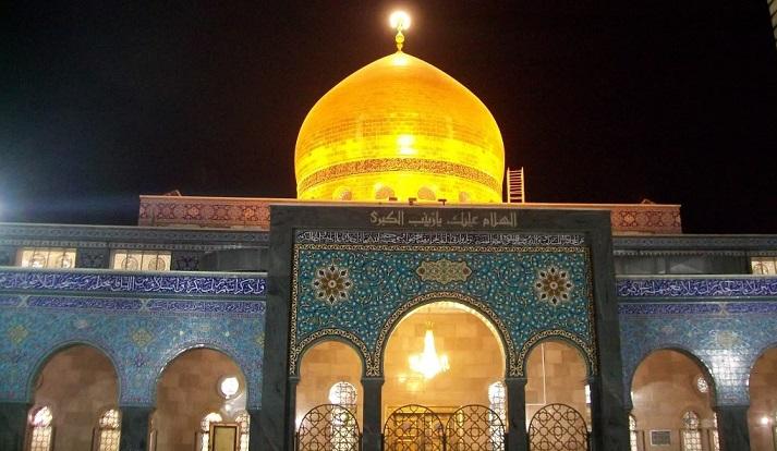 بازسازی قسمتهای آسیب دیده حرم حضرت زینب سلام الله علیها