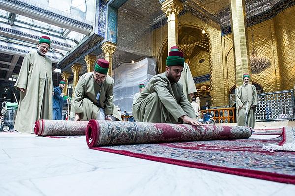 1000 فرش ایرانی در حرم حضرت عباس (ع) /گالری تصاویر