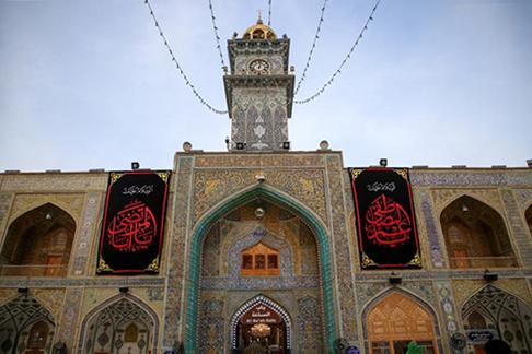 نجف اشرف سیاهپوش وفات حضرت ابوطالب (ع) / گزارش تصویری