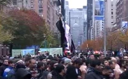 حرکت کاروان شیعیان نیویورک در روز حسین علیهالسلام