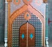 ساخت ضریح تل زینبیه به دست هنرمندان ایرانی