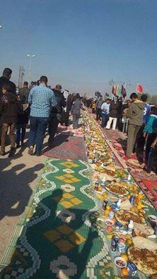 برپایی طولانی ترین سفره جهان برای زائران اربعین حسینی