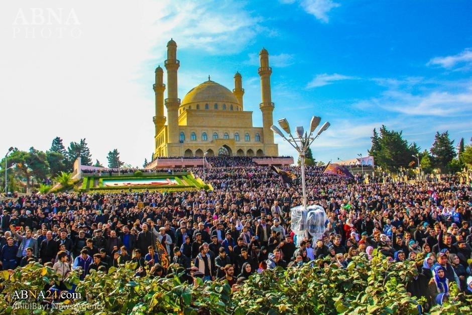 مراسم عزاداری عاشورای حسینی در شهر «نارداران» آذربایجان/ گزارش تصویری