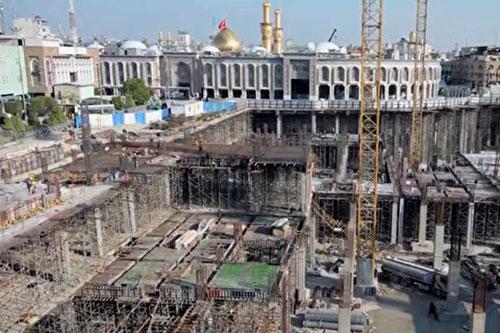 ادامه پروژه ساخت صحن حضرت زینب (س) در کربلا