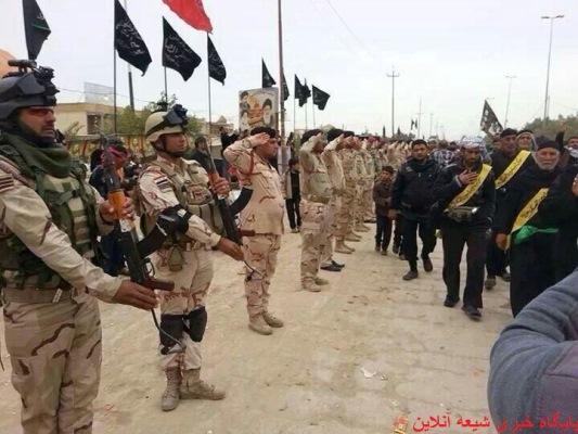 ادای احترام ارتش عراق به زائرین اربعین / تیتر پیشنهادی شما چیست؟