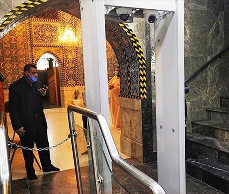 حرم امام حسین(ع) به دستگاه حرارتی کنترل سلامت زوار مجهز شد