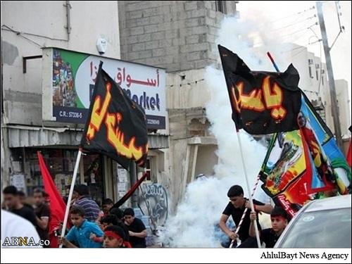 حمله به مراسم عزاداری امام حسین علیه السلام با گاز اشکآور