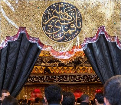 سیاه پوش شدن حرم حضرت عباس علیه السلام + گزارش تصویری