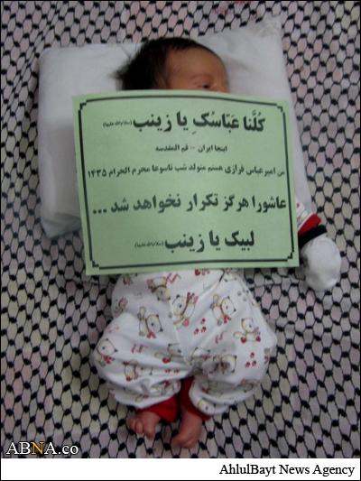 کوچکترین مدافع حرم حضرت زینب / عکس