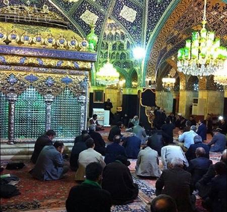 شب شهادت نازدانه امام حسین (ع) در حرم حضرت رقیه (س)/ تصاویر